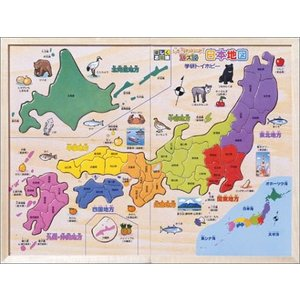 生息動物、作物、名所などを楽しいイラストで紹介。 地方ごとに色分けされているので、県の位置が覚えやす...