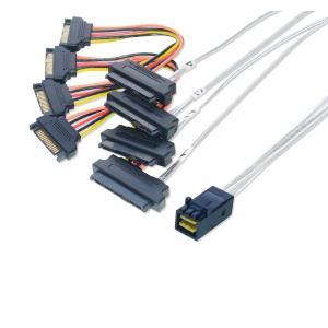 miniSAS HD → SAS/SATA ファンアウトケーブル SATA電源 50cm|saj-directstore