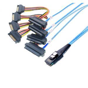 miniSAS → SAS/SATA ファンアウトケーブル SATA電源 1m|saj-directstore