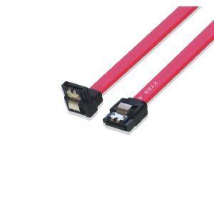 SATA III 6GB シリアルATAケーブル ラッチ付 片方L型(下向き) 1m saj-directstore
