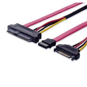 SAS/SATA⇔SATA、SATA電源変換ケーブル 50cm|saj-directstore