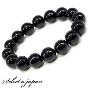 オニキス 12mm ブレスレット メンズ 数珠 パワーストーン 天然石|saj