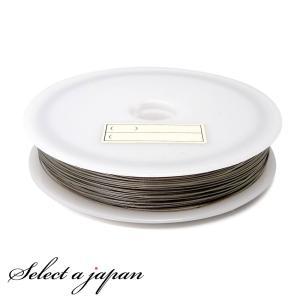『50m巻』 ナイロンコートワイヤー 0.45mm 0.38mm シルバー ハンドメイド アクセサリーパーツ 材料 銀色|saj