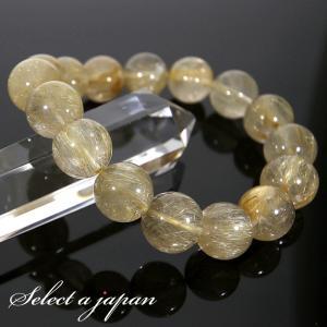 ゴールドルチルクォーツ 12mm ブレスレット パワーストーン 天然石|saj