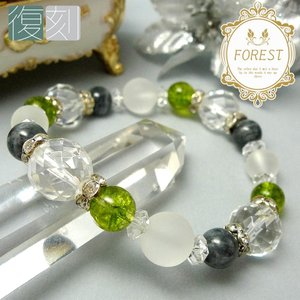 「復刻 ブレスレット -FOREST-」 パワーストーン 天然石 メンズ レディース ブレスレット|saj