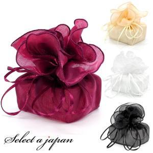 巾着袋 (35cm) サテン生地 バルーン ラッピング 包装 巾着ポーチ 小物入れ ワインレッド ベ...