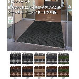 玄関マット 風除室・業務用 樹脂システムマット150 ブラシライン 150×150mm 山崎産業 F...