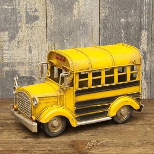 ブリキおもちゃ ヴィンテージカー ロンドンバス イエローバス アメリカ雑貨 アンティーク ガレージ レトロ /スクールバス
