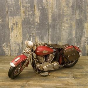 ヴィンテージバイク ブリキおもちゃ バイク オブジェ ハーレー 模型 アメリカ雑貨 世田谷ベース ガレージ/レッドバイク
