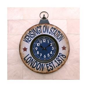 掛時計 掛け時計 大きい ビッグサイズ アンティーク おしゃれ インテリア 輸入雑貨 レトロ ヴィンテージ / KENSINGTON St. sakae-daikyo