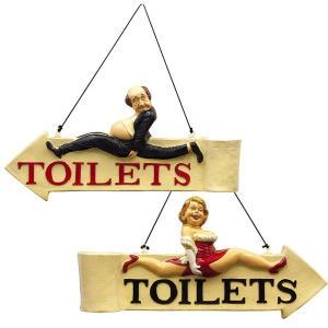 トイレ TOILETS 案内看板 店舗 アンティーク アメリカ雑貨 ショップディスプレイ レトロ|sakae-daikyo