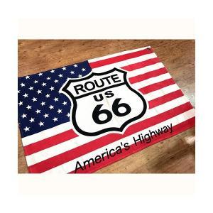 タペストリー USA ROUTE66 / 星条旗 アメリカ国旗 ルート66 FLAG アメリカ雑貨 アメリカン雑貨 ガレージ 世田谷ベース|sakae-daikyo