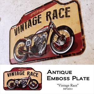 ブリキ看板 ダイカット アンティーク レトロ / Vintage Race|sakae-daikyo