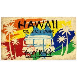 玄関マット コイヤーマット ココマット Hawaii ハワイアン アメリカ雑貨  ウエルカムマット 屋外 店舗 Sun Beach|sakae-daikyo
