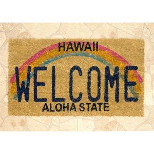 玄関マット コイヤーマット ココマット ハワイ オアフ [Hawaii Welcome] アメリカ雑貨 アメリカン雑貨 ハワイアン  サーフ の写真