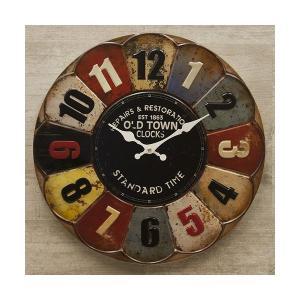 掛時計 掛け時計 アメリカ雑貨 アメリカンクロック レトロ ビンテージ アンティーク エンボスクロック / OLD TOWN 1863 sakae-daikyo
