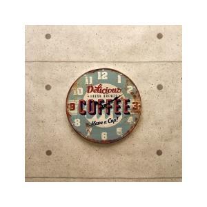 掛時計 掛け時計 アンティーク エンボスクロック カフェ レトロ ビンテージ アメリカ雑貨 アメリカン オールド おしゃれ /Coffee sakae-daikyo