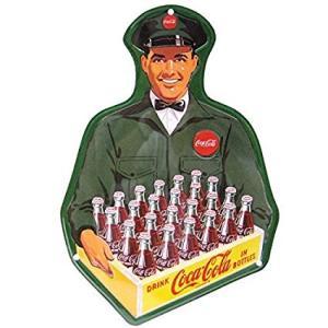 メタルサイン [デリバリー マン]アメリカ看板 ブリキ看板 Coca・Cola コカコーラ ブランド コカコーラグッズ  ドリンク  アメリカ雑貨 コカ・コーラ|sakae-daikyo