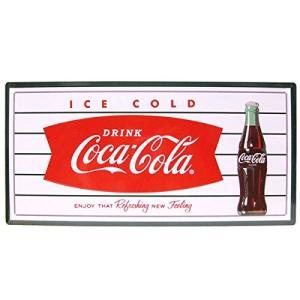 ブリキ看板 [フィッシュ] Coca・Cola コカコーラ看板 ブランド コカコーラグッズ メタル看板 ドリンク アメリカ雑貨 コカ・コーラ|sakae-daikyo