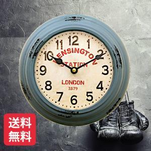 掛時計 ウォールクロック ラウンド 壁掛け時計 アンティーク アメリカ雑貨 ビンテージ風 クロック ...