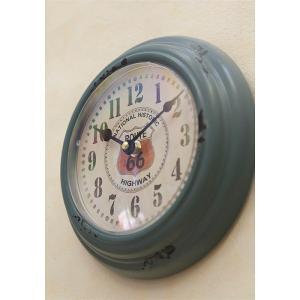 掛時計 ROUTE66 アンティーク インテリア / アンティークブルー