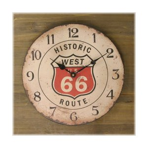 掛け時計 掛時計 壁掛け時計 アメリカンクロック ROUTE66 おしゃれ アンティーク  / ルート66 ホワイト sakae-daikyo