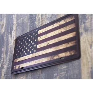 【メール便対応可】ブリキ看板 アンティーク[US Flag] サインプレート アメリカ雑貨   ティンサイン ライセンスプレート 世田谷ベース ガレージグッズ|sakae-daikyo