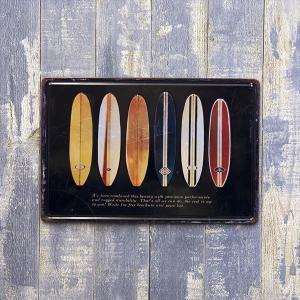 アメリカン ブリキ看板 サーフボード ハワイアン サーフィン サーフボード サーフ(Z/168) アメリカン雑貨 アメリカ雑貨|sakae-daikyo