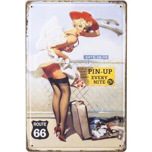 ブリキ看板   [TAKE OFF ] ピンナップガール サインプレート アメリカン雑貨 世田谷ベース ガレージ|sakae-daikyo