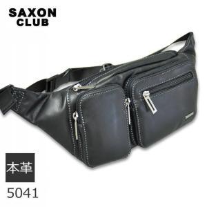 ウエストバッグ メンズ レザー 革 ウエストポーチ ヒップバッグ SAXON|sakaeshop