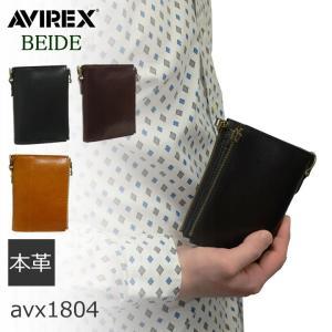 財布 メンズ 二つ折り 小銭入れあり 革 レザー 本革 札入れ 小銭入れ レザーアイテム AVIREX アヴィレックス バイドシリーズ|sakaeshop