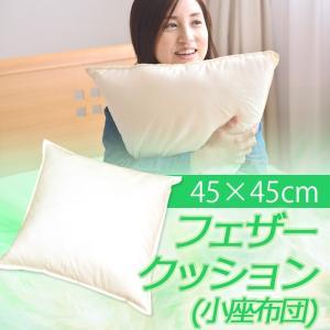 ふんわり フェザークッション(座布団)(45×45cm)小座布団|sakai-f