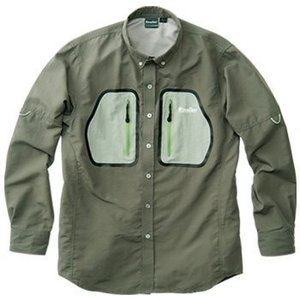 40%オフ!リバレイ(Rivalley) ガイドシャツLサイズ チャコール No.5266 速乾シャツ sakai11101