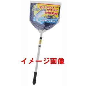 エーワン 使いやすいサイズの伸縮魚網 柄付きタモ網 88-128cm sakai11101