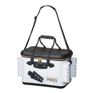 プロックス(PROX)EVAタックルバッカン(ロッドホルダー付)36cm ホワイト×ゴールドファスナー PX96636RHWG|sakai11101