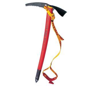 シャフトの弛やかなSAカーブは良い角度で雪面に刺さり支持力が強くなる。 この場合ピックの方向は、登り...