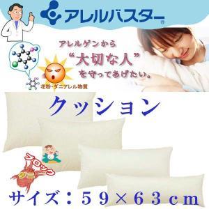 アレルバスター 高密度防ダニ ヌードクッション 59×63cm  高密度 ダニ防止|sakakyushop