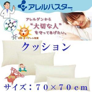 アレルバスター 高密度防ダニ ヌードクッション 70×70cm  高密度 ダニ防止|sakakyushop
