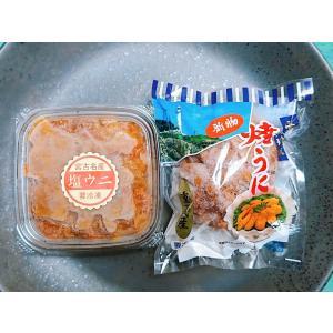 岩手県産 焼うに・塩うに 食べくらべセット(各1個) sakanayasan-gokko