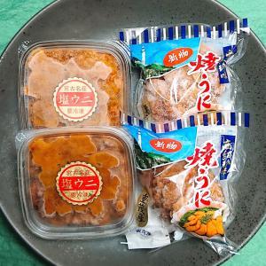 岩手県産 焼うに・塩うに 食べくらべ満足セット(各2個) sakanayasan-gokko