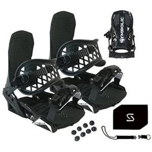 Symbolic Custom-Flow Black Snowboard Bindings & Le...