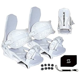 Symbolic Custom-Flow White Snowboard Bindings & Le...