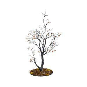 紅葉の樹木 19cm前後 ベース付き 1本 :アクセサリーズフォーランドスケープ 塗装済み完成品 1/35〜48 特製003|sakatsu