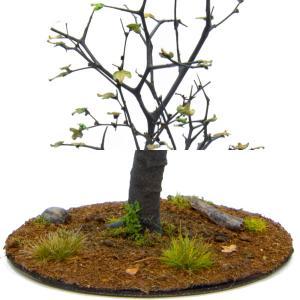初秋の樹木 19cm前後 ベース付き 1本 :アクセサリーズフォーランドスケープ 塗装済み完成品 1/35〜48 特製008|sakatsu|04