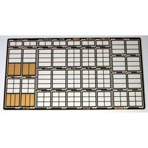 建物用 窓・扉セット 木製・A〜D :アルモデル 未塗装キット O(1/48) D5007 sakatsu