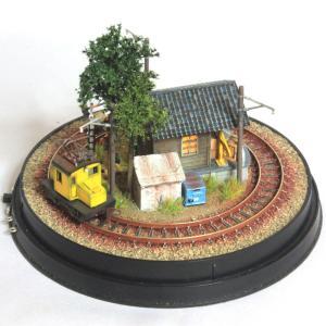 完成ジオラマ ドーム型レイアウト 「小さな貨物駅」 車輌別売 :オー模型工房 塗装済み完成品 N(1/150)サイズ|sakatsu|02
