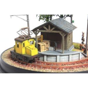 完成ジオラマ ドーム型レイアウト 「小さな貨物駅」 車輌別売 :オー模型工房 塗装済み完成品 N(1/150)サイズ|sakatsu|05