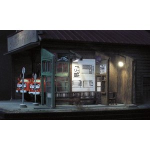 夕暮れのバス営業所 キット :クラシック ストーリー 未塗装キット HO(1/87) AC-0009|sakatsu|03