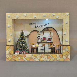 ハッピークリスマス ケーキ屋さん インフレーム :亀田信子 塗装済完成品 ノンスケール|sakatsu