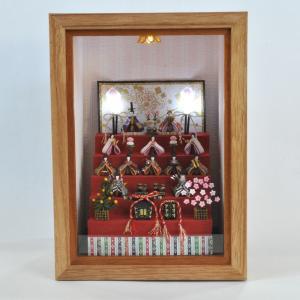 ミニチュア雛飾り お内裏様とお雛様 五段飾りA インフレーム :亀田信子 塗装済完成品 ノンスケール|sakatsu